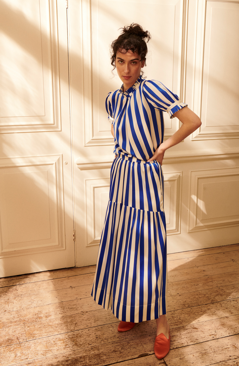 "<br> <br> <strong>Yolke</strong> Stripe Prairie Skirt, $, available at <a href=""https://go.skimresources.com/?id=30283X879131&url=https%3A%2F%2Fwww.yolke.co.uk%2Fcollections%2Fday-wear%2Fproducts%2Fcobalt-blue-white-stripe-prairie-skirt"" rel=""nofollow noopener"" target=""_blank"" data-ylk=""slk:Yolke"" class=""link rapid-noclick-resp"">Yolke</a> <br> <br> <strong>Yolke</strong> Stripe Silk Phoebe Blouse, $, available at <a href=""https://go.skimresources.com/?id=30283X879131&url=https%3A%2F%2Fwww.yolke.co.uk%2Fcollections%2Fday-wear%2Fproducts%2Fcobalt-blue-white-striped-phoebe-blouse"" rel=""nofollow noopener"" target=""_blank"" data-ylk=""slk:Yolke"" class=""link rapid-noclick-resp"">Yolke</a>"