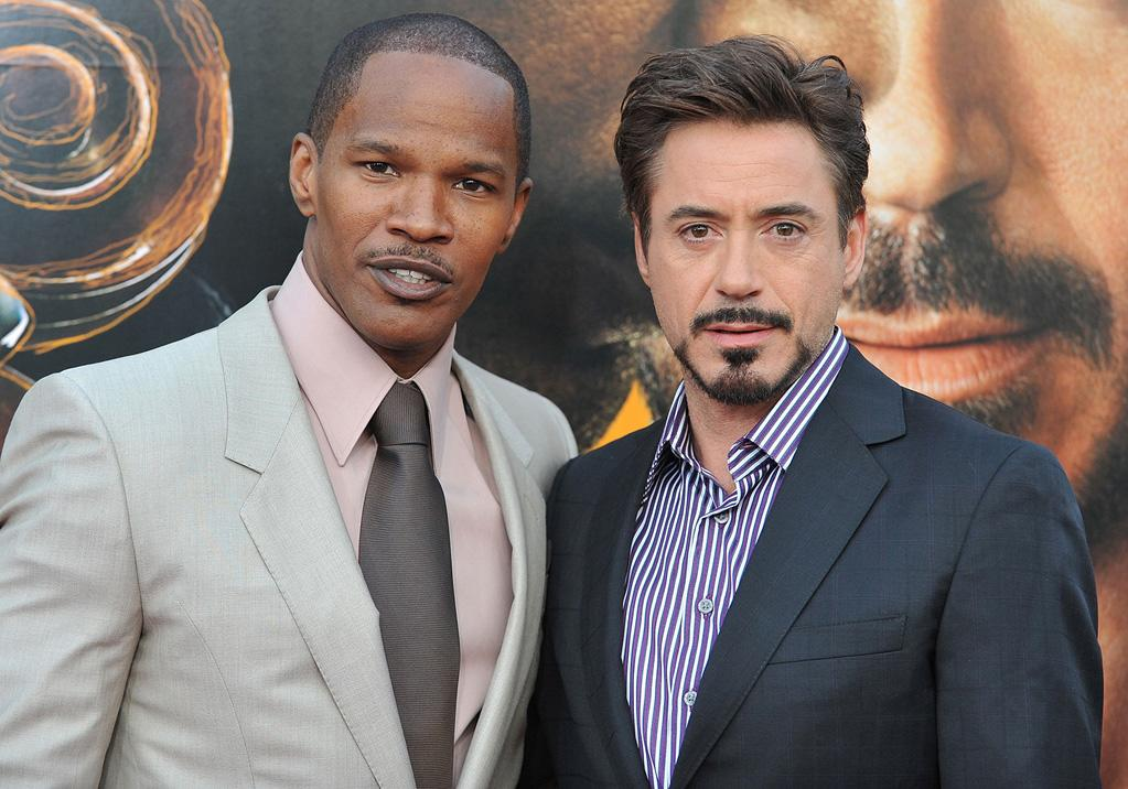 "<a href=""http://movies.yahoo.com/movie/contributor/1800020004"">Jamie Foxx</a> and <a href=""http://movies.yahoo.com/movie/contributor/1800010914"">Robert Downey Jr.</a> at the Los Angeles premiere of <a href=""http://movies.yahoo.com/movie/1809986571/info"">The Soloist</a> - 04/20/2009"