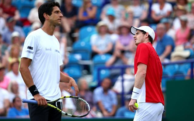 Andy Murray andMarcelo Melo were comprehensively beaten on Tuesday - Getty Images Europe
