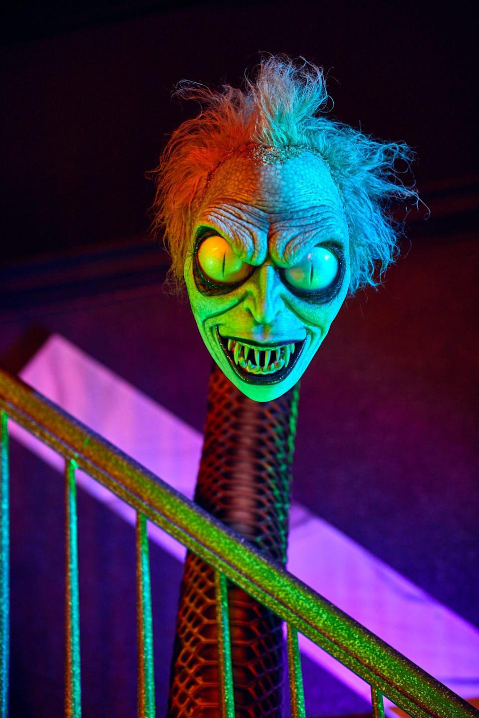 The Halloween Horror Nights Tribute store at Universal Orlando features specialty merchandise inspired by the history of the popular annual event.