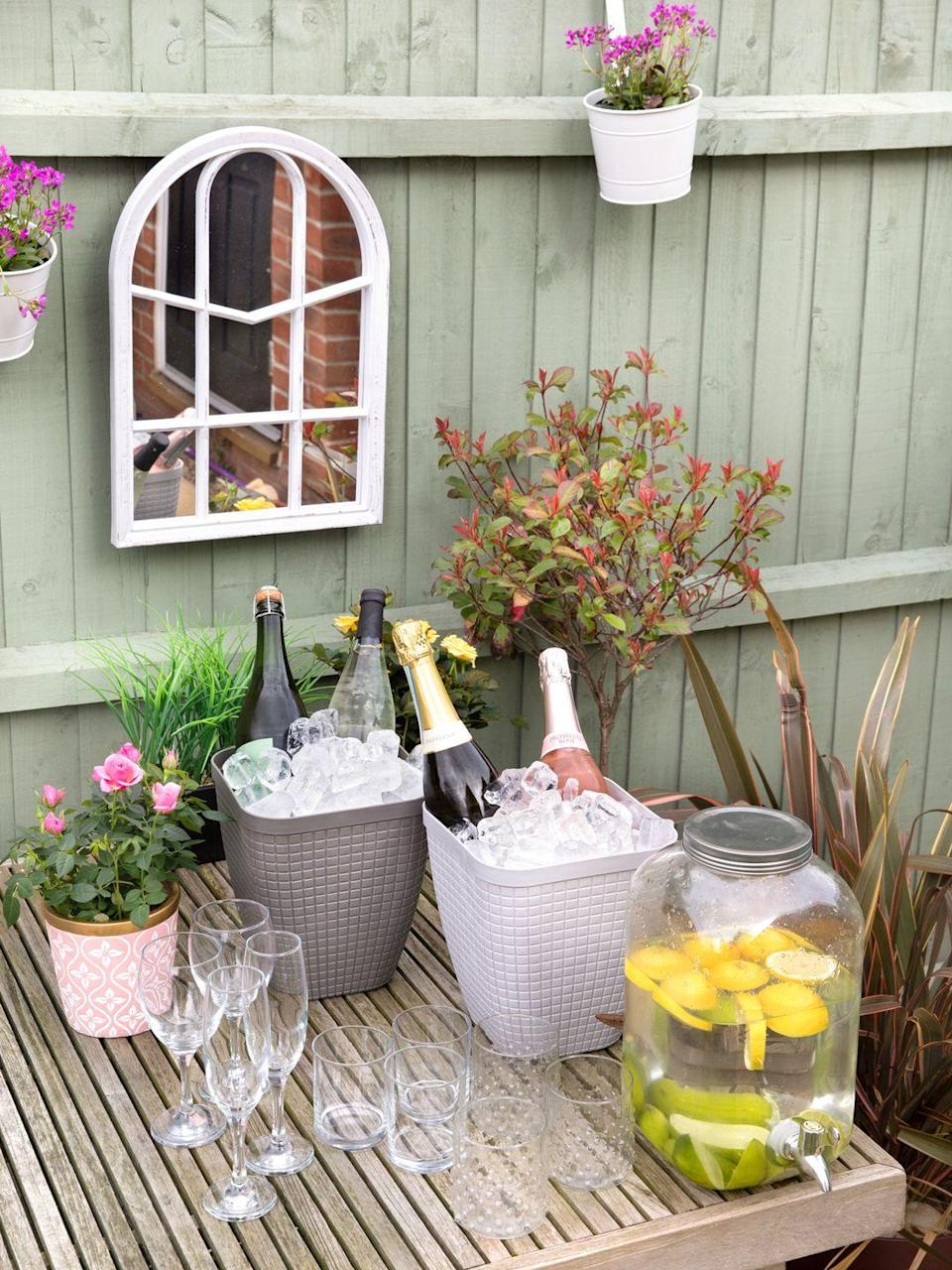 """<p>Pour a glass of bubbly and cheers to better days coming. Whether you're planning a safe group of six gathering or want to stock up on essentials, Poundland's collection includes a wine holder for £1 and a Portable Kettle BBQ for £12. </p><p><a class=""""link rapid-noclick-resp"""" href=""""https://www.poundland.co.uk/store-finder/"""" rel=""""nofollow noopener"""" target=""""_blank"""" data-ylk=""""slk:FIND NEAREST STORE"""">FIND NEAREST STORE</a></p>"""