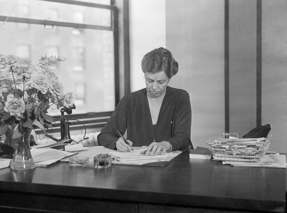 """<p>First Ladies Sarah Polk, Eleanor Roosevelt and Bess Truman all had jobs while their husbands were in office, according to the <a href=""""http://www.firstladies.org/facinatingfacts.aspx"""" rel=""""nofollow noopener"""" target=""""_blank"""" data-ylk=""""slk:National First Ladies' Library"""" class=""""link rapid-noclick-resp"""">National First Ladies' Library</a>. In a recent interview, community college teacher and First Lady to-be<a href=""""https://www.cbsnews.com/news/dr-jill-biden-on-family-teaching-loss-and-levity/"""" rel=""""nofollow noopener"""" target=""""_blank"""" data-ylk=""""slk:Jill Biden said that she intends to continue teaching"""" class=""""link rapid-noclick-resp""""> Jill Biden said that she intends to continue teaching</a> after she and Joe Biden move into the White House.</p>"""
