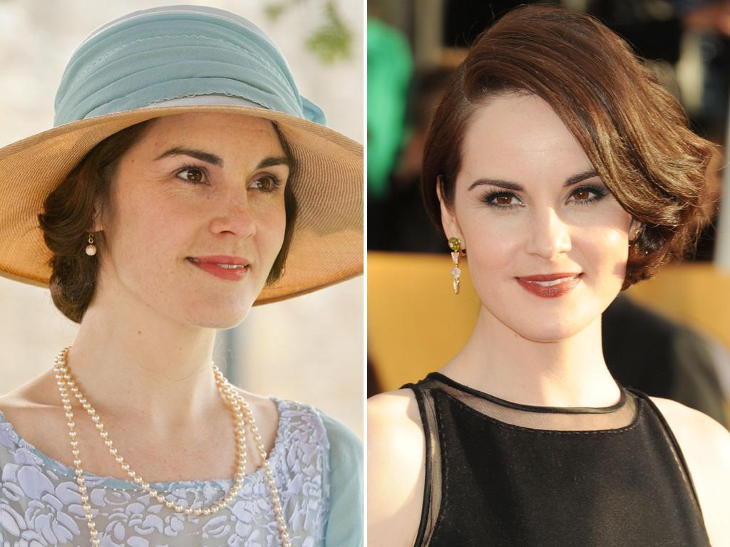 <p>Yowza... Matthew wouldn't be able to keep his hands off his bride Mary if he spotted <strong>Michelle Dockery</strong> on the red carpet. Amazing what a little makeup will do.</p>