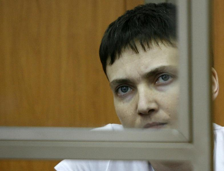 Military pilot Nadiya Savchenko, who has been held by Russia since June 2014, first announced her protest action last Thursday, rejecting both food and water (AFP Photo/)