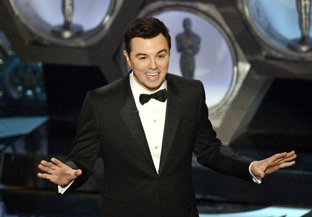 Seth MacFarlane on the Oscars stage Sunday night