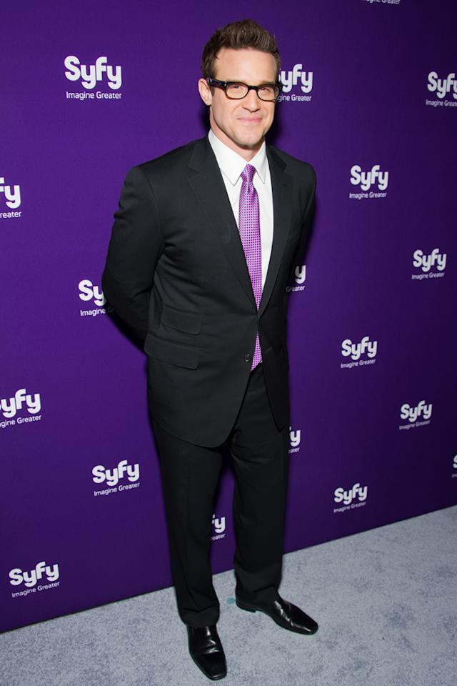 "Eddie McClintock (""<a href=""http://tv.yahoo.com/warehouse-13/show/39506"">Warehouse 13</a>"") attends Syfy's 2012 Upfront event at the American Museum of Natural History on April 24, 2012 in New York City."