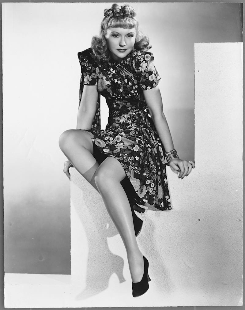 Compton wears a floral dress in this undated photo.