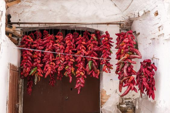 Sundried peppers are a local speciality (Getty Images/iStockphoto)