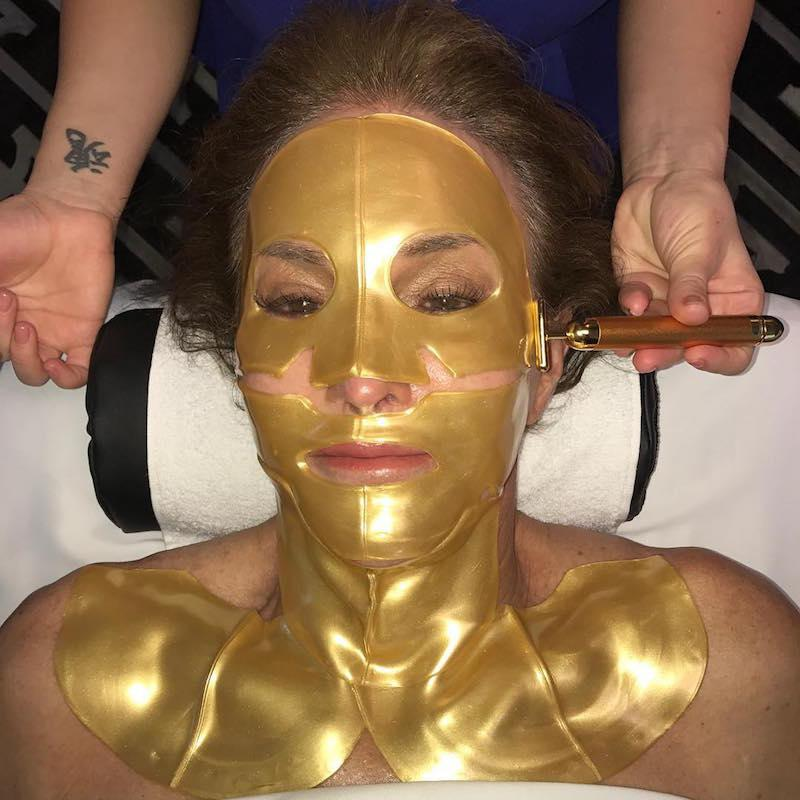 """<p>It's not easy being beautiful! """"It looks like I should be a character in a sci-fi movie,"""" she wrote while tending to her skin. """"No one told me this is what facials were! #scifacial #tbt."""" (Photo: <a rel=""""nofollow"""" href=""""https://www.instagram.com/p/BPLXyIOlu2R/?taken-by=caitlynjenner"""">Instagram</a>) </p>"""