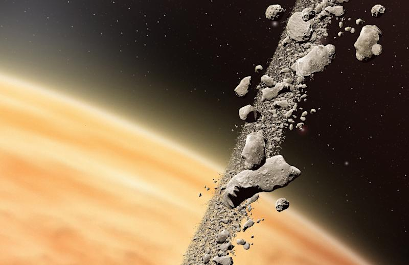 Asteroid belts could be key to the evolution of complex life, say scientists (Image: Rex)