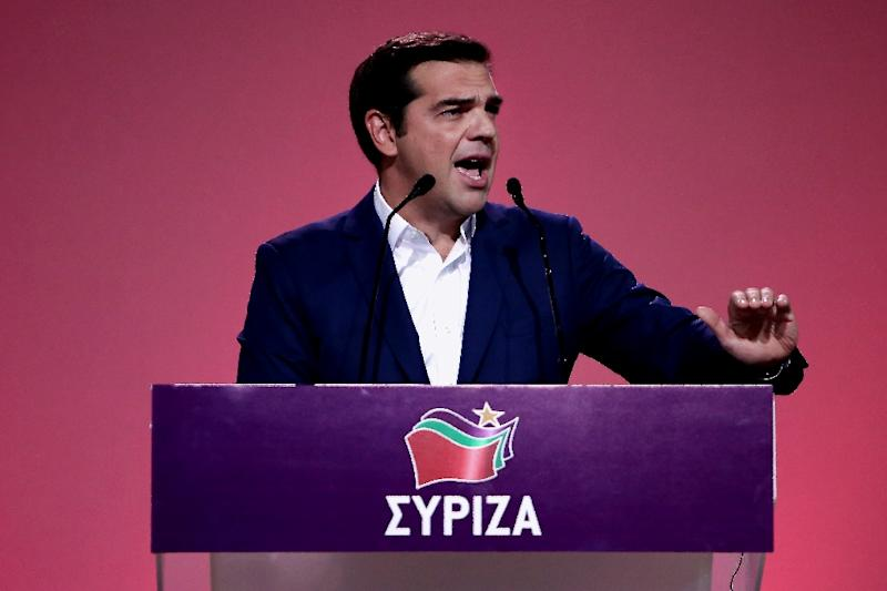 Greek Prime Minister Alexis Tsipras has shrugged off criticism that he abandoned Syriza's radical left-wing principles when he signed Greece up for a multi-billion EU austerity bailout