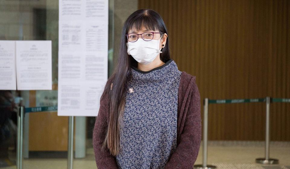 Hui Lai-ming, director of the Hong Kong Social Workers' General Union, was cleared of one count of obstructing a police officer. Photo: Brian Wong