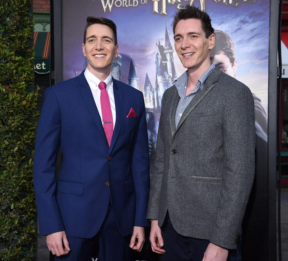 James and Oliver Phelps 2016