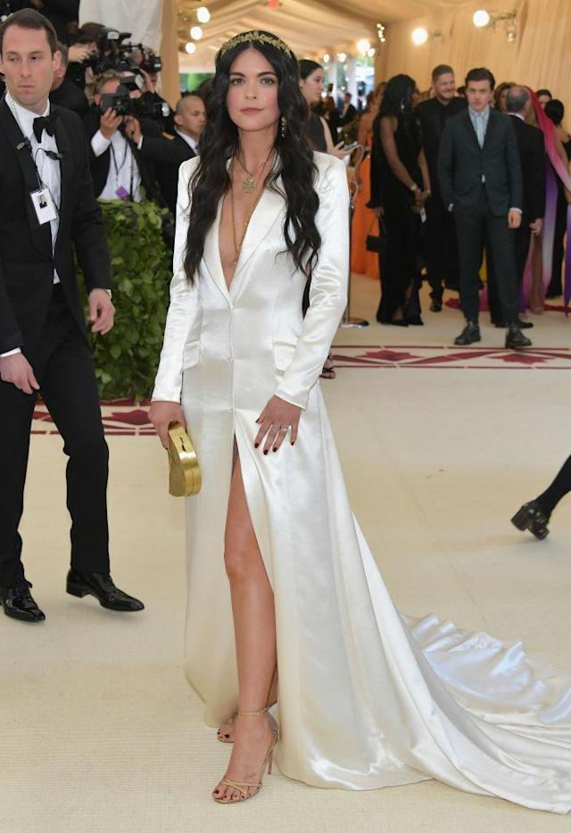 <p>Katie Lee attends the Heavenly Bodies: Fashion & The Catholic Imagination Costume Institute Gala at The Metropolitan Museum of Art on May 7, 2018 in New York City. (Photo: Getty Images) </p>