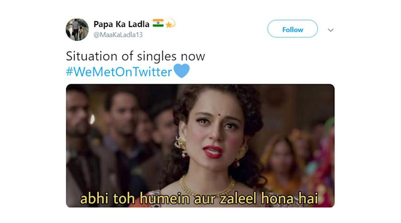 Twitter Love Stories Trend Under #WeMetOnTwitter, BUT It's the Funny Single Memes and Jokes That Are Winning the Internet