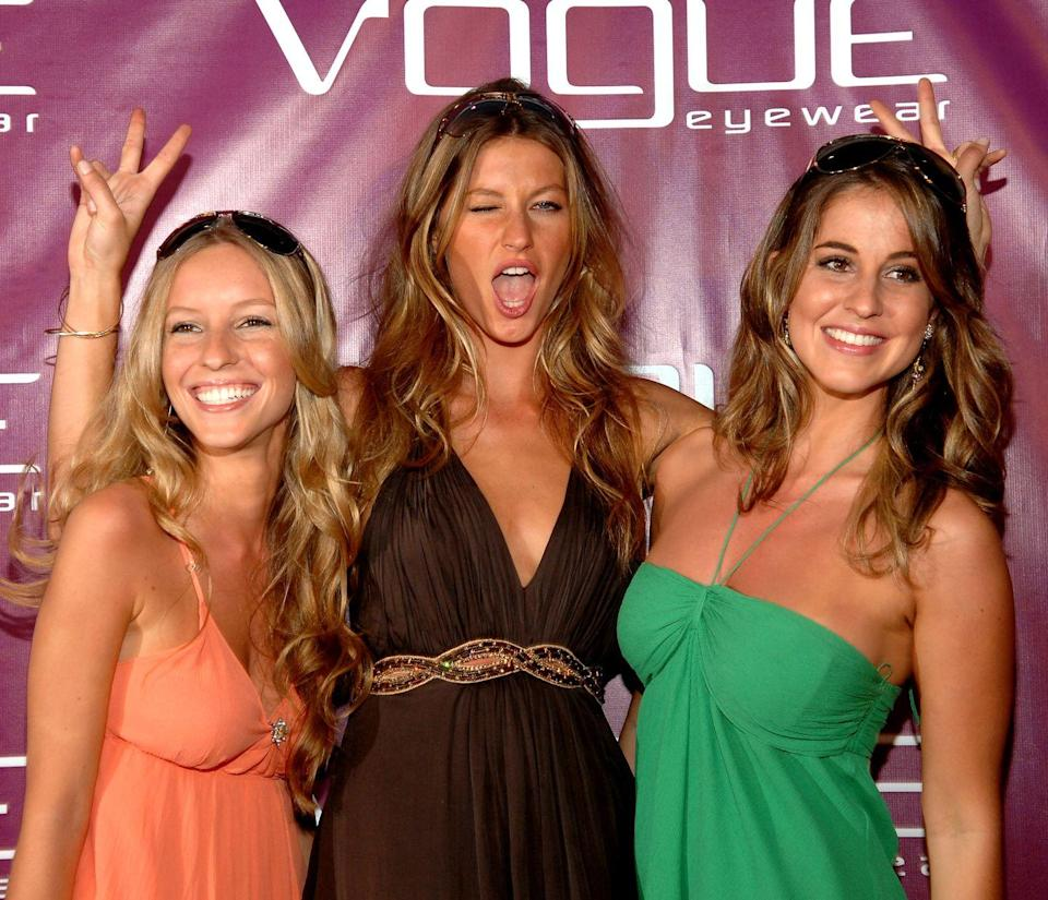 <p>Not only does Gisele Bündchen have a twin sister, Patricia (right), but their younger sister, Rafaela (left), looks like she could be their triplet. The siblings attended an event together in 2007, and their matching beach waves and sun-kissed skin made it more than clear that they were related.</p>
