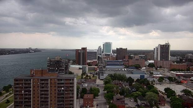 Downtown Windsor is shown in a file photo. Environment Canada issued a severe thunderstorm watch on Wednesday afternoon. (Sanjay Maru/CBC - image credit)