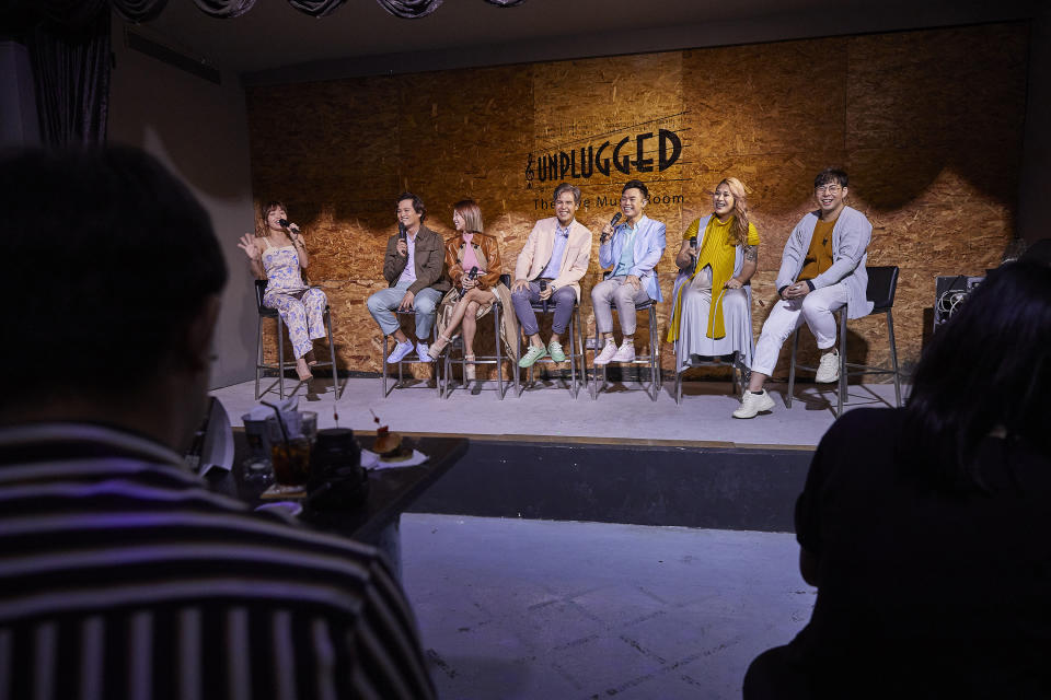MICapella during their Q&A session. (PHOTO: Universal Music Singapore)