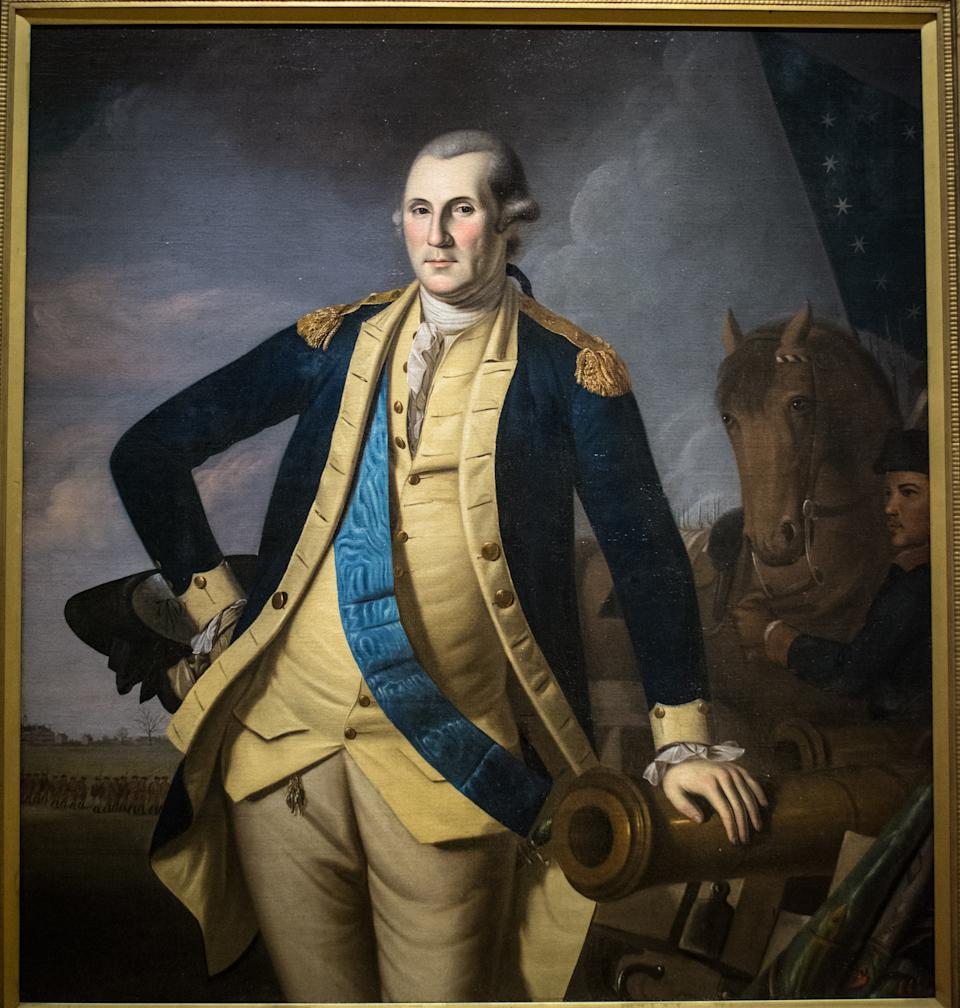 George Washington dans son uniforme militaire.