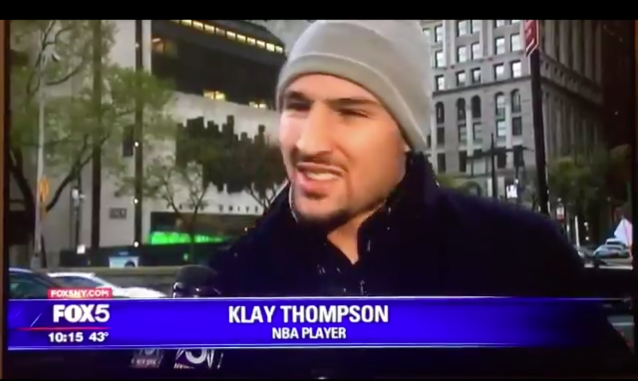 "<a class=""link rapid-noclick-resp"" href=""/nba/players/4892/"" data-ylk=""slk:Klay Thompson"">Klay Thompson</a>, man on the street."