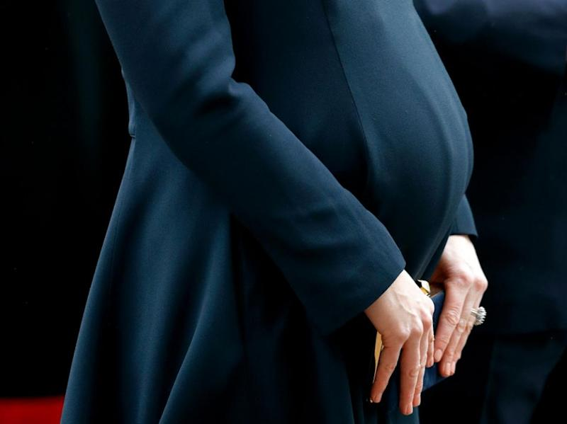 People have noticed her bump is bigger this time around. Photo: Getty