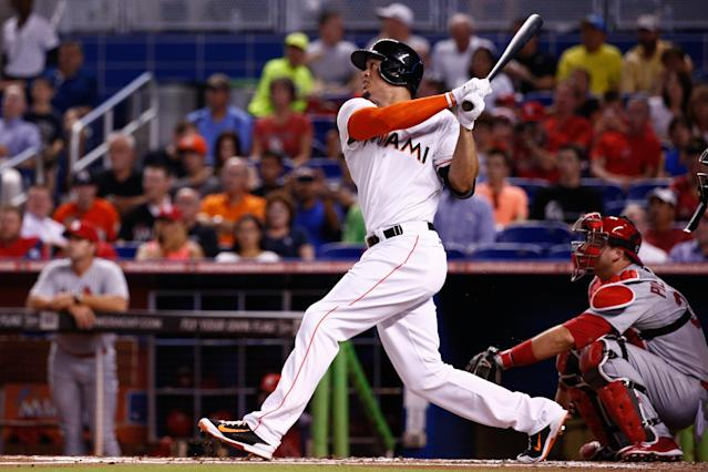 The five longest homers of August, once again led by Giancarlo Stanton (Videos)
