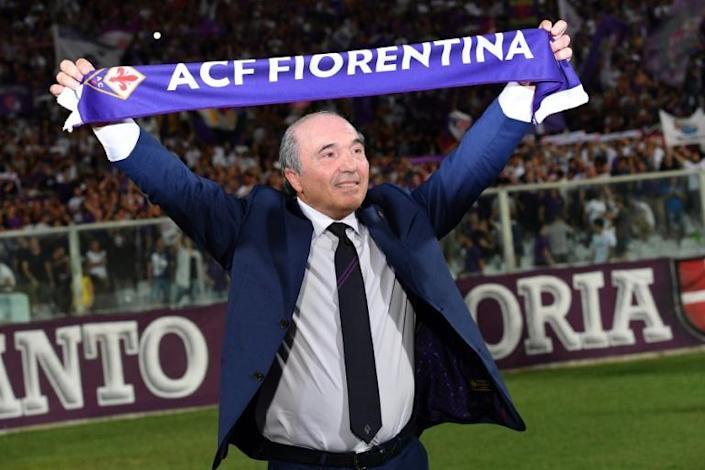 Fiorentina owner Rocco Commisso before a match against Napoli in August 2019.