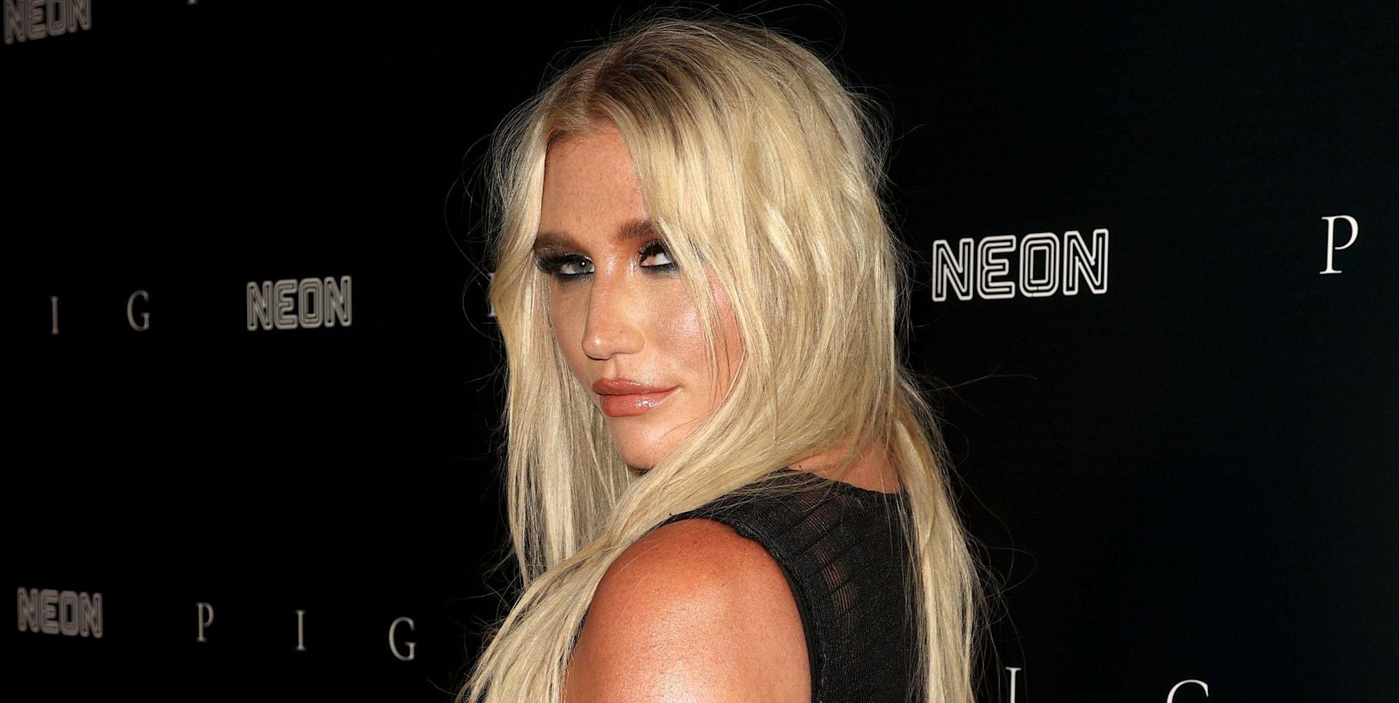Kesha Looked Amazing in a Fully Sheer Thong Dress Last Night