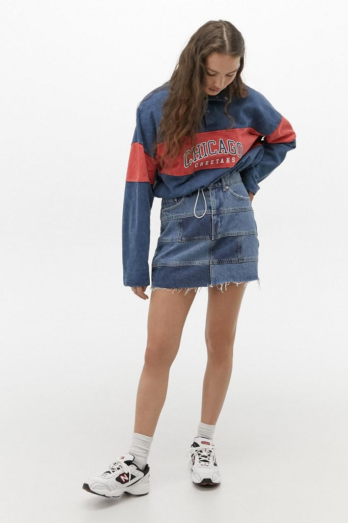 "<br> <br> <strong>BDG</strong> Patchwork Denim Mini Skirt, $, available at <a href=""https://go.skimresources.com/?id=30283X879131&url=https%3A%2F%2Fwww.urbanoutfitters.com%2Fshop%2Fbdg-patchwork-denim-mini-skirt2%3Fcategory%3Dskirts%26color%3D091%26type%3DREGULAR%26quantity%3D1"" rel=""nofollow noopener"" target=""_blank"" data-ylk=""slk:Urban Outfitters"" class=""link rapid-noclick-resp"">Urban Outfitters</a>"