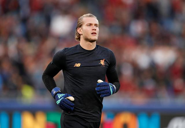 Soccer Football - Champions League Semi Final Second Leg - AS Roma v Liverpool - Stadio Olimpico, Rome, Italy - May 2, 2018 Liverpool's Loris Karius during the warm up before the match Action Images via Reuters/John Sibley