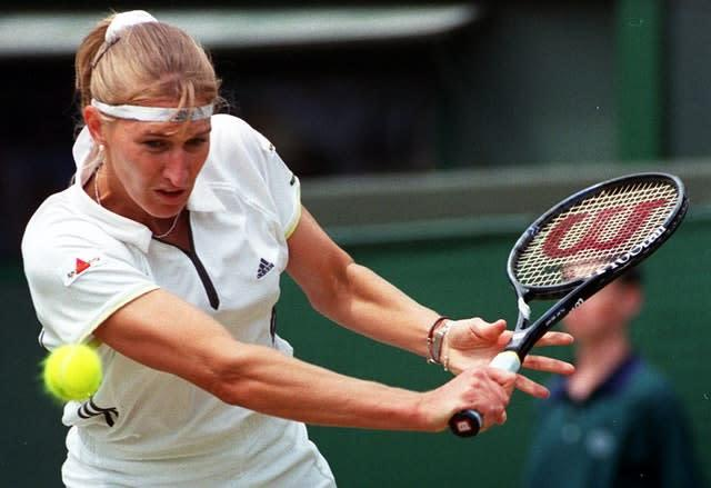 Top seed Steffi Graf was the beaten finalist on Seles' big day (Neil Munns/PA)