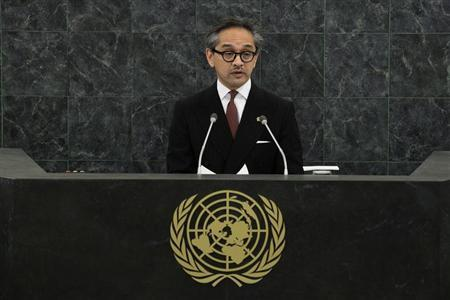 Indonesian Foreign Minister Natalegawa addresses the 68th United Nations General Assembly at U.N. headquarters in New York