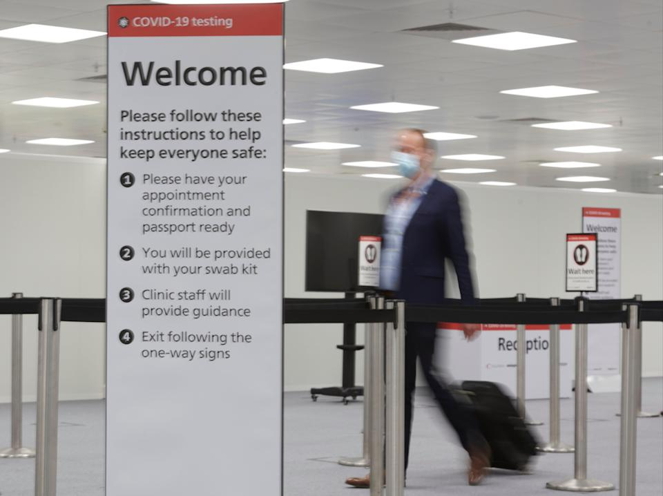 Medical check: Heathrow offers tests to departing passengers – but not of the PCR variety (Heathrow Airport/Collinson)