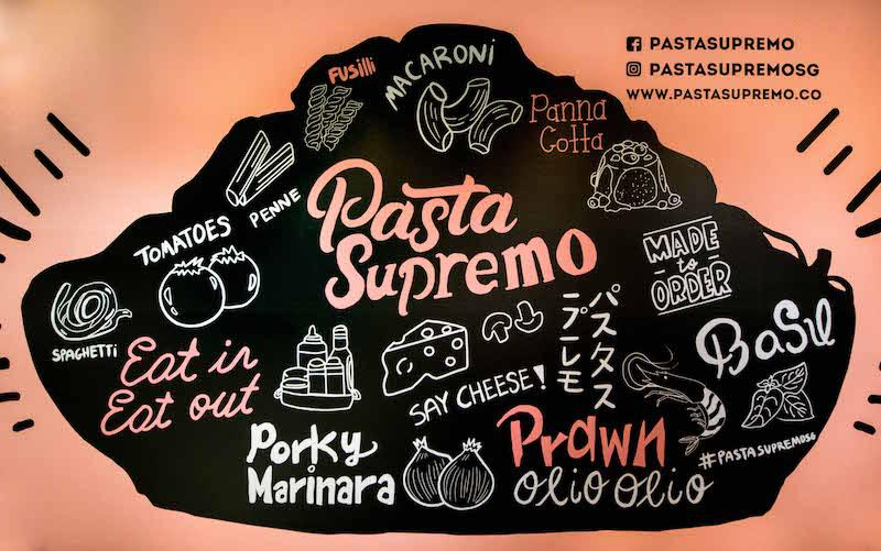 The wall mural. Photo: Pasta Supremo