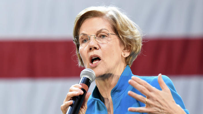 Sen. Elizabeth Warren speaks at a campaign event in New York City. (Photo: Ron Adar/Echoes Wire/Barcroft Media via Getty Images)