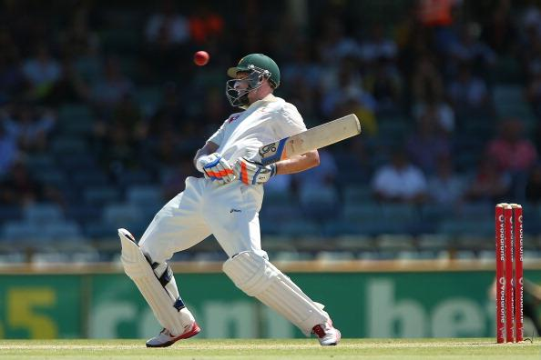PERTH, AUSTRALIA - DECEMBER 03: Michael Hussey of Australia avoids a high delivery by Morne Morkel of South Africa during day four of the Third Test Match between Australia and South Africa at WACA on December 3, 2012 in Perth, Australia.  (Photo by Paul Kane/Getty Images)