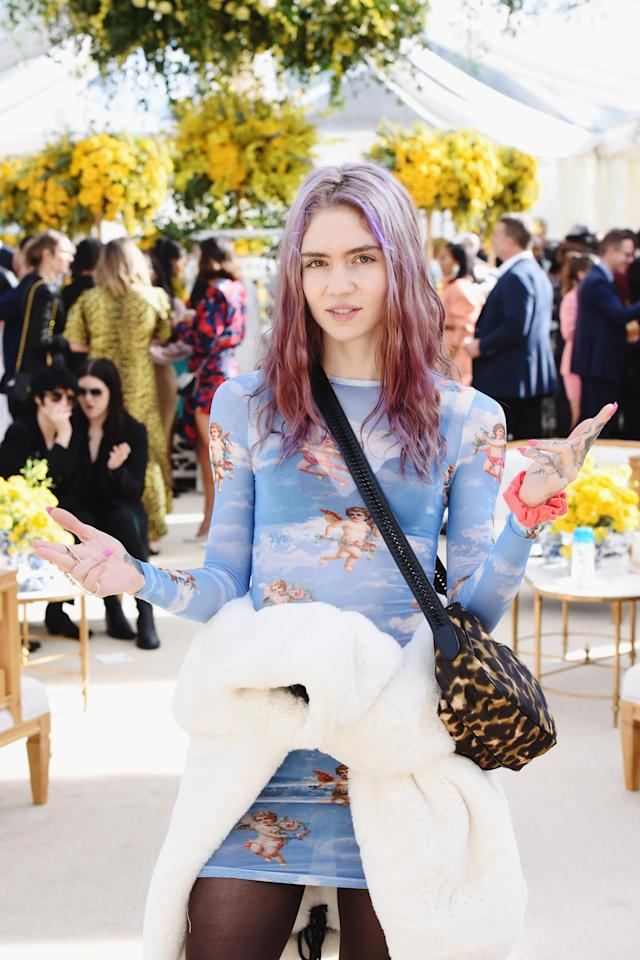 Grimes attends 2019 Roc Nation THE BRUNCH on February 9, 2019 in Los Angeles, California.  (Photo by Vivien Killilea/Getty Images for Roc Nation )
