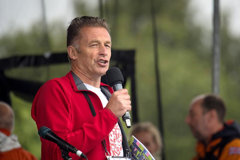 Chris Packham speaks onstage before the start of the People's Walk for Wildlife, in Hyde Park in central London. (Photo by Dominic Lipinski/PA Images via Getty Images)