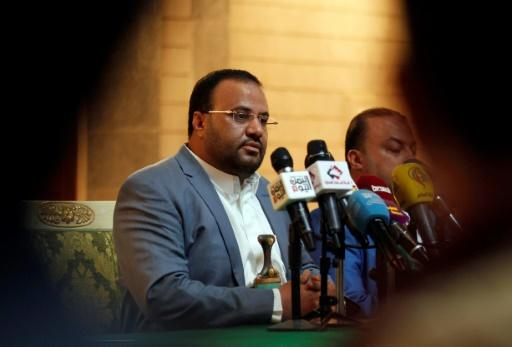 The political head of Yemen's Huthi Shiite rebels, Saleh al-Sammad, attends a meeting with freed prisoners in Sanaa on January 31, 2017