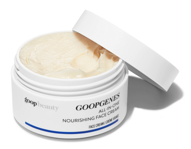 The whipped GoopGenes All-In-One Moisturizer is said to improve firmness, elasticity, glow, the appearance of fine lines and wrinkles, and brightness after just four weeks. That said, the formula made with ceramides, squalene, and active botanicals is said to take affect in just 48 hours, providing 48 hours of lasting hydration as well.