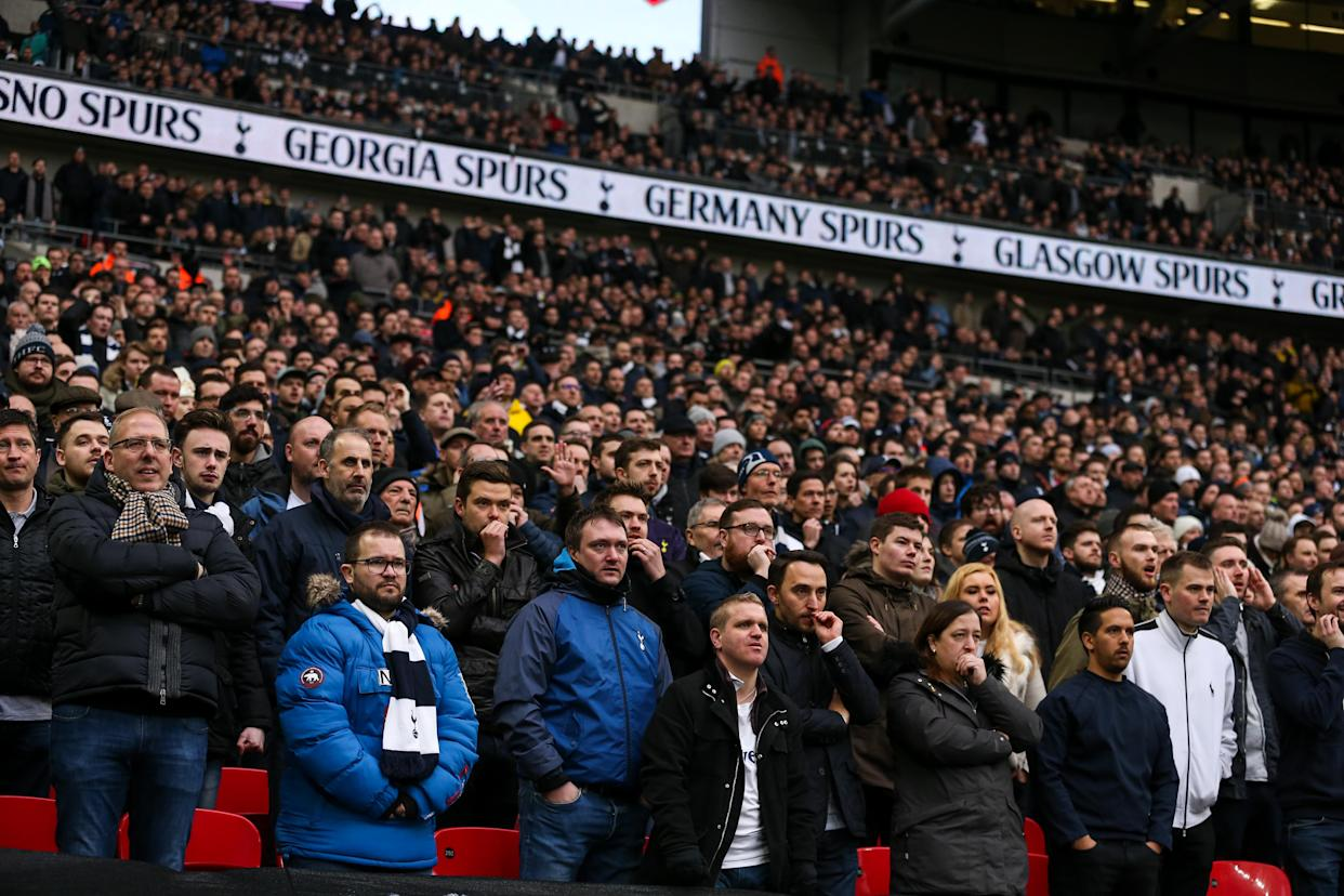 A Swansea fan aimed a Nazi salute at Spurs supporters in April 2017