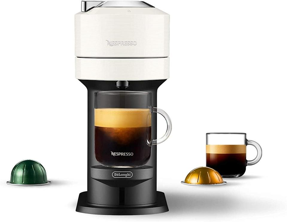 <p>With over 4,000 positive reviews, you know you can't go wrong with the <span>Nespresso Vertuo Next Coffee and Espresso Maker</span> ($159). The popular machine comes with so many capsule options to make your perfect brew.</p>