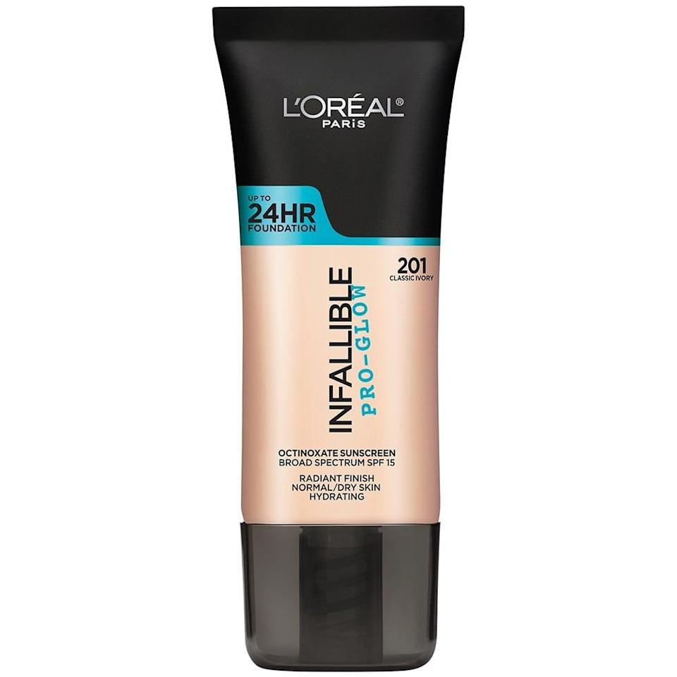<p>When you're after that lit-from-within glow but want enough coverage to ensure nothing else dims your shine, reach for the <span>L'Oréal Paris Infallible Pro-Glow</span> ($13).</p>