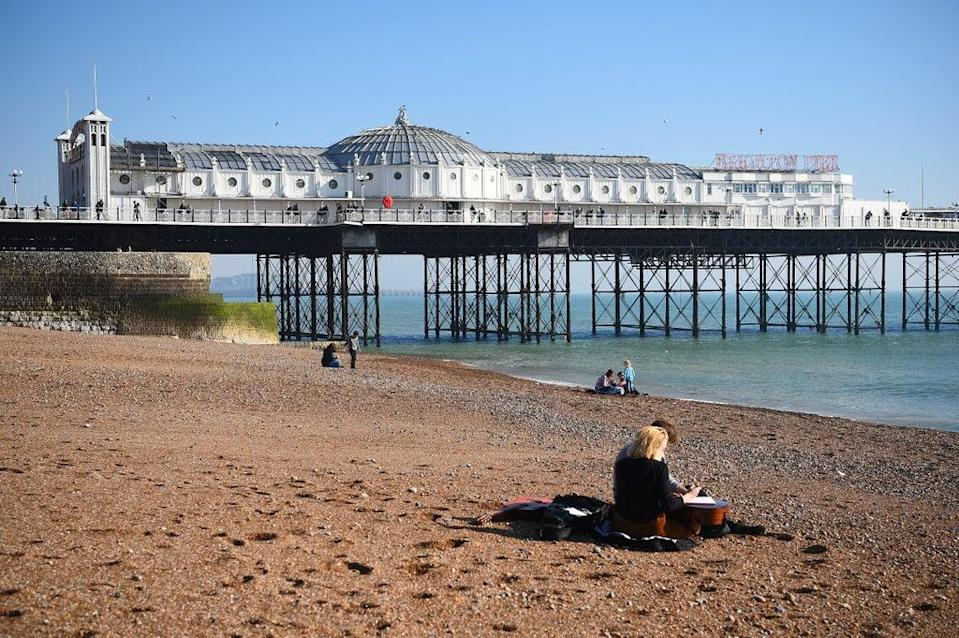 The run finished near Brighton Pier (Kirsty O'Connor/PA) (PA Archive)