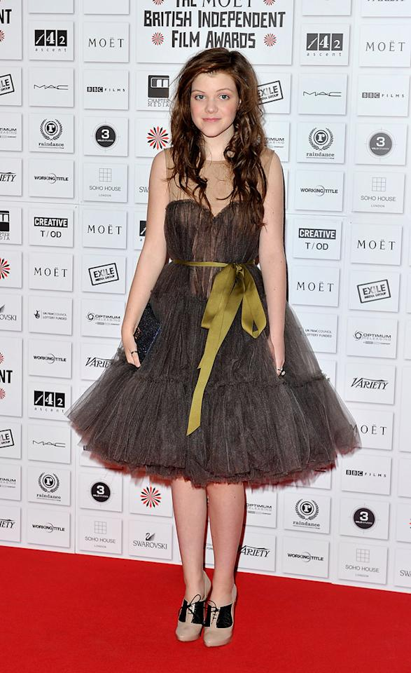 "<a href=""http://movies.yahoo.com/movie/contributor/1809700845"">Georgie Henley</a> attends the Moet British Independent Film Awards on December 5, 2010."