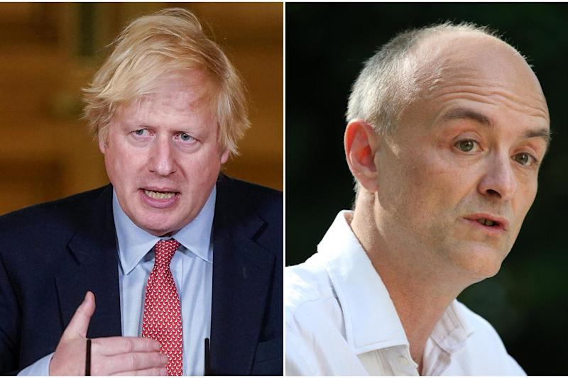 Government approval ratings have plummeted since Boris Johnson defended Dominic Cummings amid claims he breached the coronavirus lockdown: AFP via Getty Images / PA