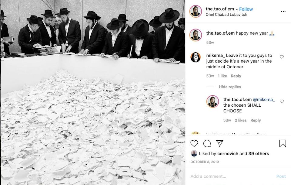 Morris jokes about Jews on Instagram with far-right extremist Mike Mahoney. (Photo: Emma-Jo Morris/Instagram)