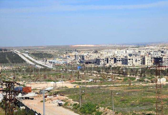 The Castello Road was the only remaining supply route into the opposition-held east of Aleppo city, which has been divided between government and rebel control since mid-2012 (AFP Photo/)