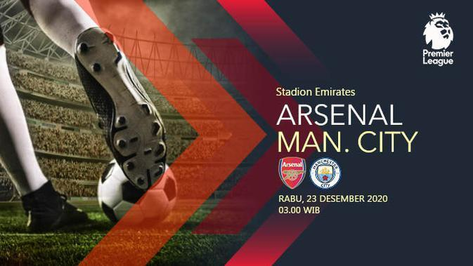 Arsenal vs Manchester City (Liputan6.com/Abdillah)