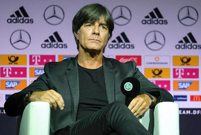 Joachim Loew has hit back to sharp criticism from Sandro Wagner after the Bayern Munich striker was left out of Germany's extended 27-man World Cup squad. (AFP Photo/Patrik STOLLARZ)